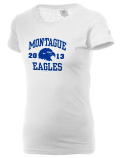 Montague Elementary School Eagles  Russell Women's Campus T-Shirt
