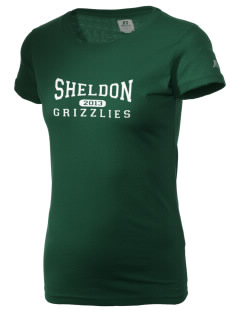 Sheldon Elementary School Grizzlies  Russell Women's Campus T-Shirt
