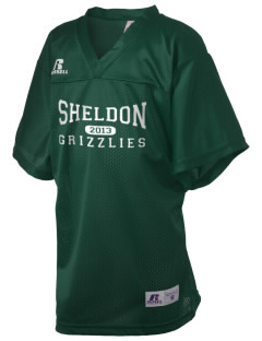 Sheldon Elementary School Grizzlies Russell Kid's Replica Football Jersey