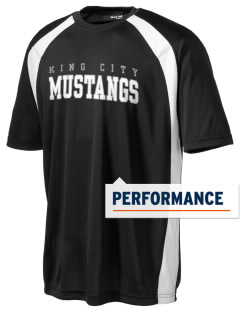 King City High School Mustangs Men's Dry Zone Colorblock T-Shirt