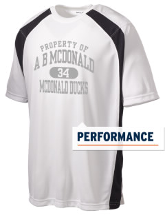 A B McDonald Elementary School McDonald Ducks Men's Dry Zone Colorblock T-Shirt