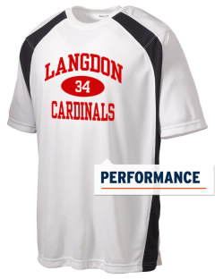 Langdon Area Elementary School Cardinals Men's Dry Zone Colorblock T-Shirt