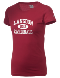 Langdon Area Elementary School Cardinals  Russell Women's Campus T-Shirt