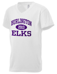 Burlington School Elks Kid's V-Neck Jersey T-Shirt