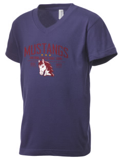 Armstrong-Ringsted Middle School Mustangs Kid's V-Neck Jersey T-Shirt