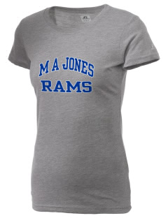 M A Jones Elementary School Rams  Russell Women's Campus T-Shirt