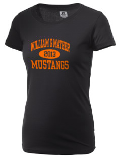 William G Mather Middle School Mustangs  Russell Women's Campus T-Shirt