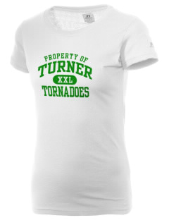 Turner High School Tornadoes  Russell Women's Campus T-Shirt