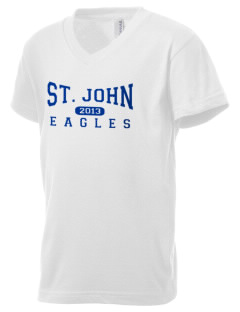 Saint John Elementary School Eagles Kid's V-Neck Jersey T-Shirt
