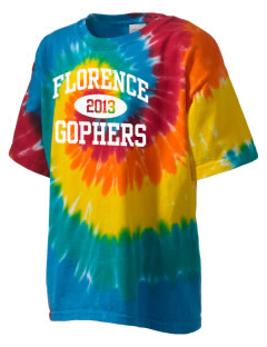 Florence High School Gophers Kid's Tie-Dye T-Shirt
