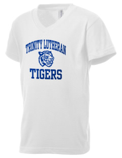 Trinity Lutheran School Tigers Kid's V-Neck Jersey T-Shirt