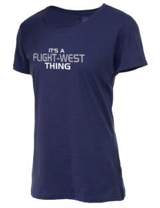 Tennessee Flight - West Basketball Heavy Cotton HD Ladies' T-Shirt