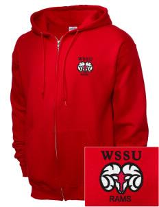 loadanim Winston-Salem State University Rams Embroidered JERZEES Unisex  NuBlend® 8 oz. Fleece Full adf62102d