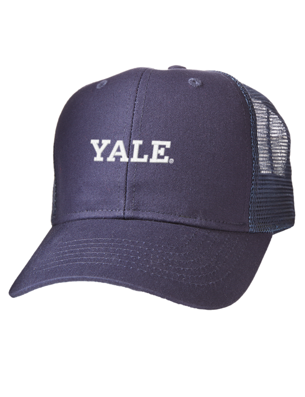 3df71ea098747 Yale University Bulldogs Embroidered Cotton Twill Trucker-Style Mesh ...