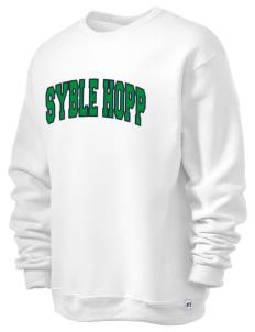 loadanim Syble Hopp School Russell Athletic Men's Dri-Power® 9oz Crewneck  Sweatshirt with Tackle Twill