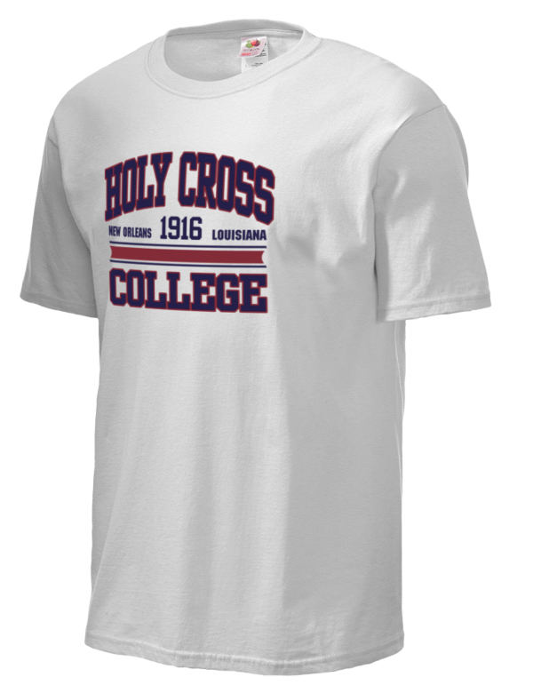 our lady of holy cross college fruit of the loom men 39 s 5oz cotton t shirt prep sportswear. Black Bedroom Furniture Sets. Home Design Ideas