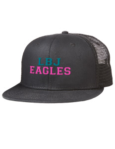 Lbj eagles hats snapback prep sportswear loadanim lbj eagles embroidered cotton twill flat bill trucker style snapback cap publicscrutiny Image collections