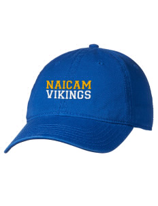27302122ff93c loadanim Naicam School Vikings Embroidered 6 Panel Garment Washed Superior  Cotton Twill Cap