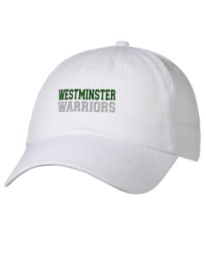 9a0ddcc4470 loadanim Westminster Christian School Warriors Embroidered 6 Panel Garment  Washed Superior Cotton Twill Cap