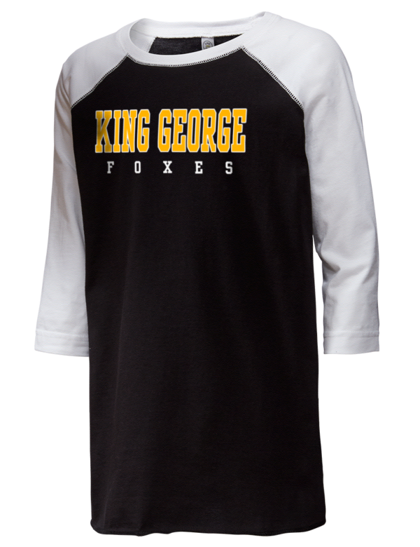 eec68e151 King George High School Foxes LAT Youth Baseball T-Shirt