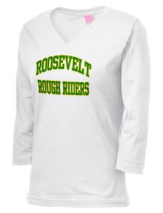loadanim Roosevelt High School Rough Riders LAT Women s 3 4-Sleeve T-Shirt 6c3155f73