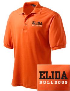 loadanim Elida High School Bulldogs Embroidered Men's Silk Touch Polo