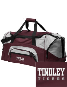 loadanim Charles A. Tindley Accelerated School Tigers Embroidered  Colorblock Duffle Bag