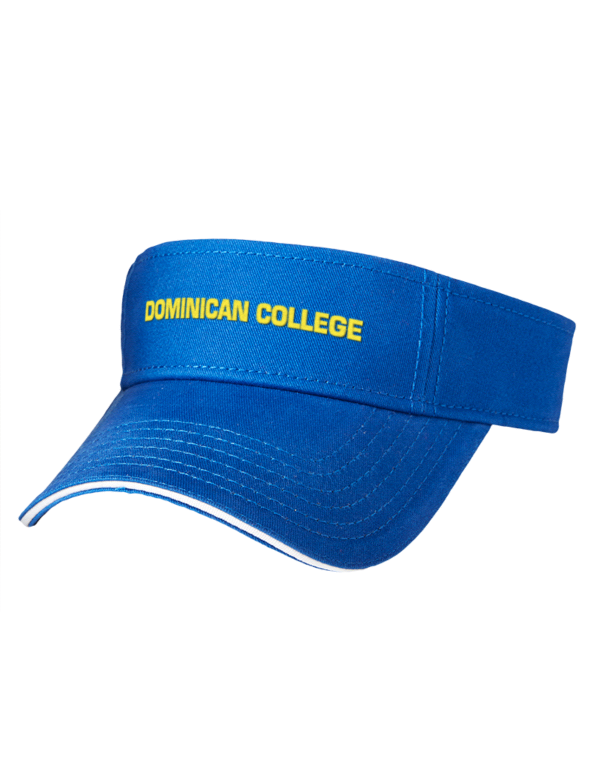 c6e342799bd Dominican University College Embroidered Brushed Cotton Twill Contrast  Sandwich Visor