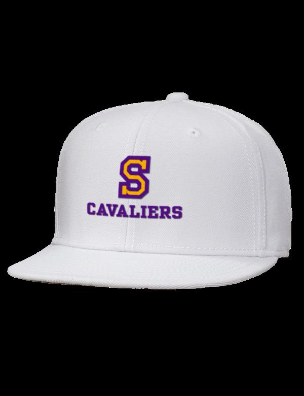 Santiago High School Cavaliers Embroidered Wool Blend Flat Bill Pro Style Snapback Cap