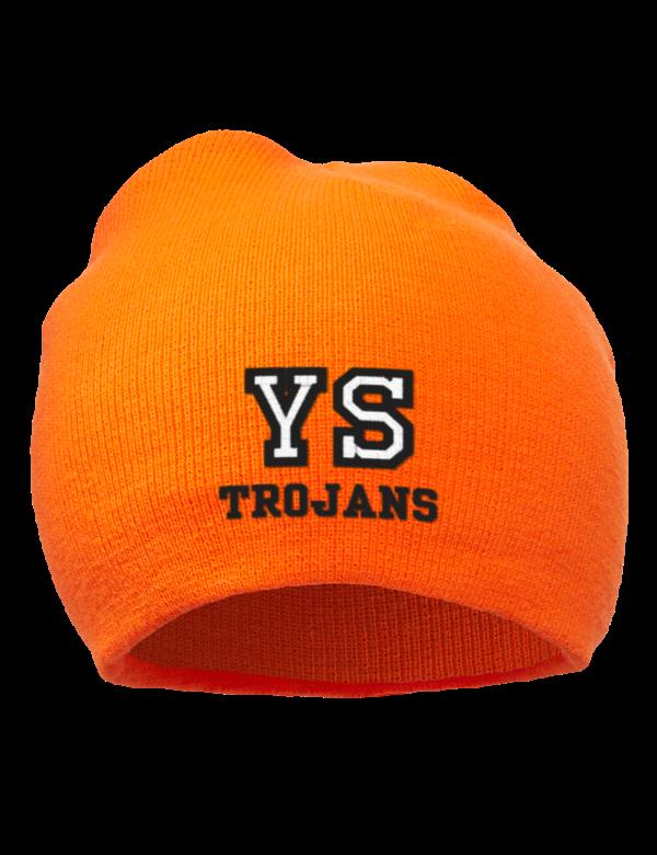York suburban high school trojans embroidered acrylic
