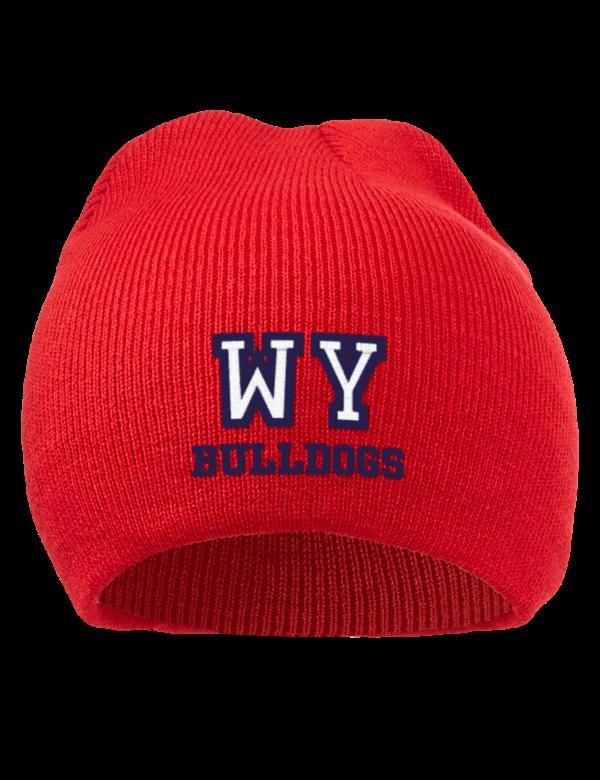 West york high school bulldogs embroidered acrylic beanie