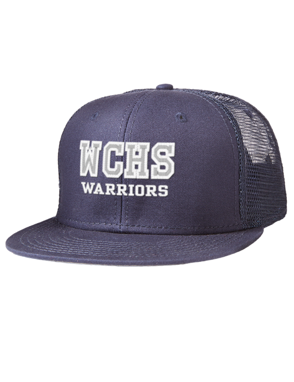 6213dee54efcf White County High School Warriors Flat Bills