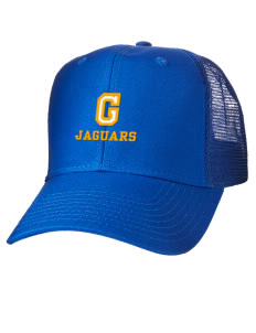 loadanim Grandport Elementary School Jaguars Embroidered Cotton Twill  Trucker-Style Mesh Back Cap 9c6b1362e305