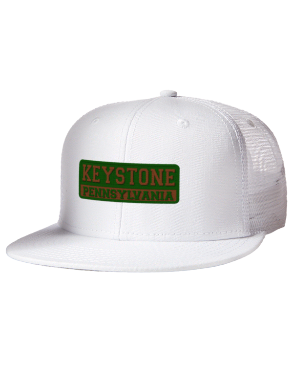 4c49e3e0941a6 Keystone State Park Embroidered Cotton Twill Flat Bill Trucker Style ...