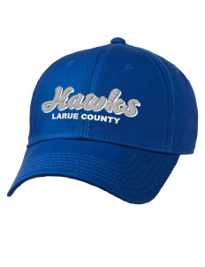 loadanim LaRue County High School Hawks Embroidered Superior Cotton Twill  Low Profile Cap with Large Print