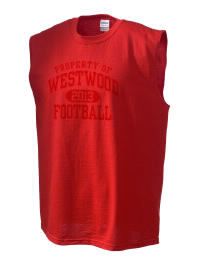 The perfect in-between custom Westwood High School Cardinals sleeveless crewneck T-Shirt.  The Westwood High School Cardinals sleeveless tee is preshrunk with double-needle stitching on neck, and hemmed armholes.  Ash color is 99% cotton, 1% polyester.  Sport Grey is 90% cotton, 10% polyester.