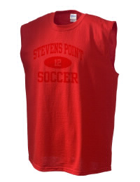 The perfect in-between custom Stevens Point High School Panthers sleeveless crewneck T-Shirt.  The Stevens Point High School Panthers sleeveless tee is preshrunk with double-needle stitching on neck, and hemmed armholes.  Ash color is 99% cotton, 1% polyester.  Sport Grey is 90% cotton, 10% polyester.