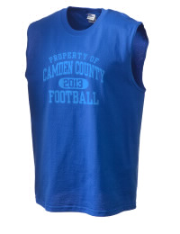 The perfect in-between custom Camden County High School Wildcats sleeveless crewneck T-Shirt.  The Camden County High School Wildcats sleeveless tee is preshrunk with double-needle stitching on neck, and hemmed armholes.  Ash color is 99% cotton, 1% polyester.  Sport Grey is 90% cotton, 10% polyester.