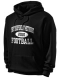 Stay warm and look good in this Independent Methodist High School hooded sweatshirt. Made of super-soft cotton/poly fleece, it will keep you warm on the sidelines or in the stands. Spandex trim provides extra comfort and the coverseamed construction throughout provides increased durability.