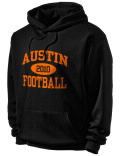 Stay warm and look good in this Austin High School hooded sweatshirt.