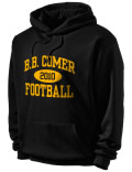 Stay warm and look good in this B.B. Comer High School hooded sweatshirt. Made of super-soft cotton/poly fleece, it will keep you warm on the sidelines or in the stands. Spandex trim provides extra comfort and the coverseamed construction throughout provides increased durability.