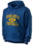Stay warm and look good in this North River Christian High School hooded sweatshirt.