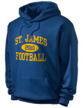 St. James High School hooded sweatshirt.