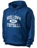 Reeltown High School hooded sweatshirt.