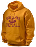 South Lamar High School hooded sweatshirt.