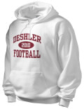 Stay warm and look good in this Deshler High School hooded sweatshirt. Made of super-soft cotton/poly fleece, it will keep you warm on the sidelines or in the stands. Spandex trim provides extra comfort and the coverseamed construction throughout provides increased durability.