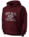 Stay warm and look good in this Boaz High School hooded sweatshirt. Made of super-soft cotton/poly fleece, it will keep you warm on the sidelines or in the stands. Spandex trim provides extra comfort and the coverseamed construction throughout provides increased durability.