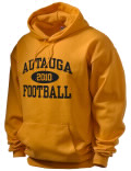 Stay warm and look good in this Autauga Academy High School hooded sweatshirt.
