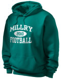 Stay warm and look good in this Millry High School hooded sweatshirt. Made of super-soft cotton/poly fleece, it will keep you warm on the sidelines or in the stands. Spandex trim provides extra comfort and the coverseamed construction throughout provides increased durability.
