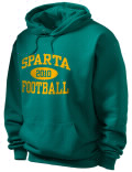 Stay warm and look good in this Sparta Academy High School hooded sweatshirt. Made of super-soft cotton/poly fleece, it will keep you warm on the sidelines or in the stands. Spandex trim provides extra comfort and the coverseamed construction throughout provides increased durability.